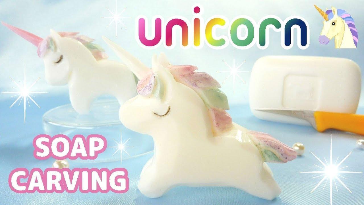 Soap carving unicorn unicornio how to make diy