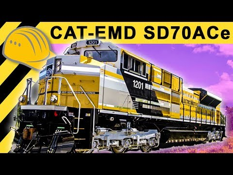 Biggest CAT Locomotive SD70ACe Inside & Walkaround - Caterpillar at MinExpo
