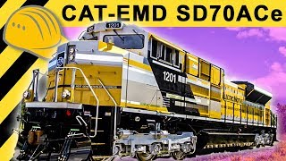 Caterpillar Locomotive SD70ACe Inside & Walkaround - CAT MINExpo 2012 - Bauforum24 TV
