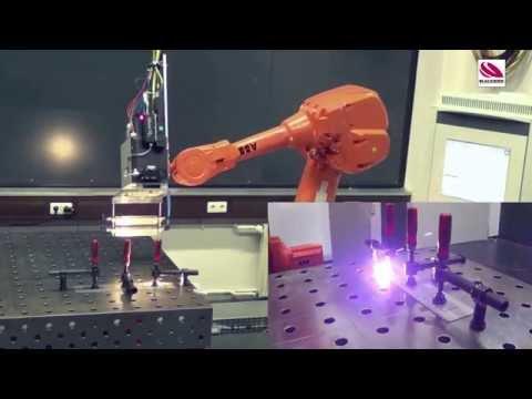 Roboterschweißen mit Echtzeit-Nahtverfolgung - 3D scanner welding with seam tracking