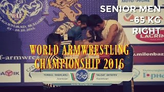 SENIOR MEN RIGHT -65 kg QUAL - World Armwrestling Championship 2016(Please Subscribe for more cool armwrestling action Follow us on Facebook:http://tinyurl.com/lvpl7fe SUBSCRIBE AND LOVE ARMWRESTLING Youtube ..., 2016-10-17T21:54:27.000Z)