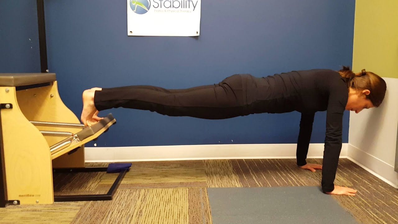 Handstand Chair Office Keeps Rising Jenna Demonstrating On The Stott Pilates