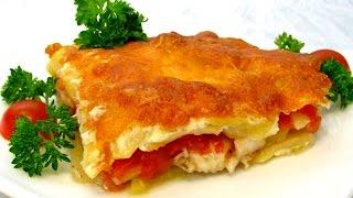 Запеченная рыба Судак с овощами под Сыром . Рецепт как приготовить рыбу