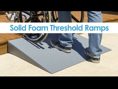 Silver Spring Lightweight Solid Foam Threshold Ramp