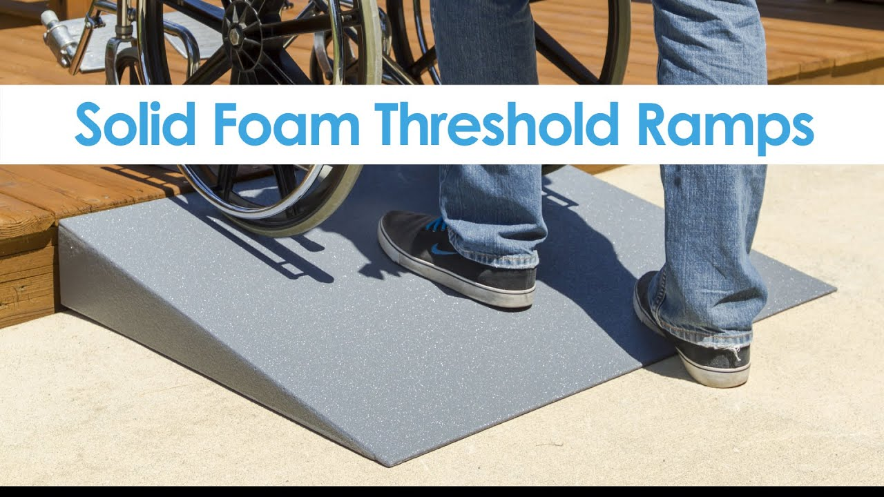 Silver Spring Lightweight Solid Foam Threshold Ramp Youtube