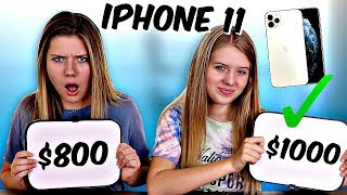 I'll Buy You an iPhone 11 If you can Guess the Price! Taylor and Vanessa