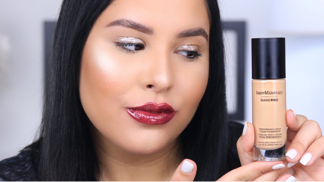 a60faf7a783 bareMinerals BarePRO Performance Wear Liquid Foundation Review & Demo    Nelly Toledo