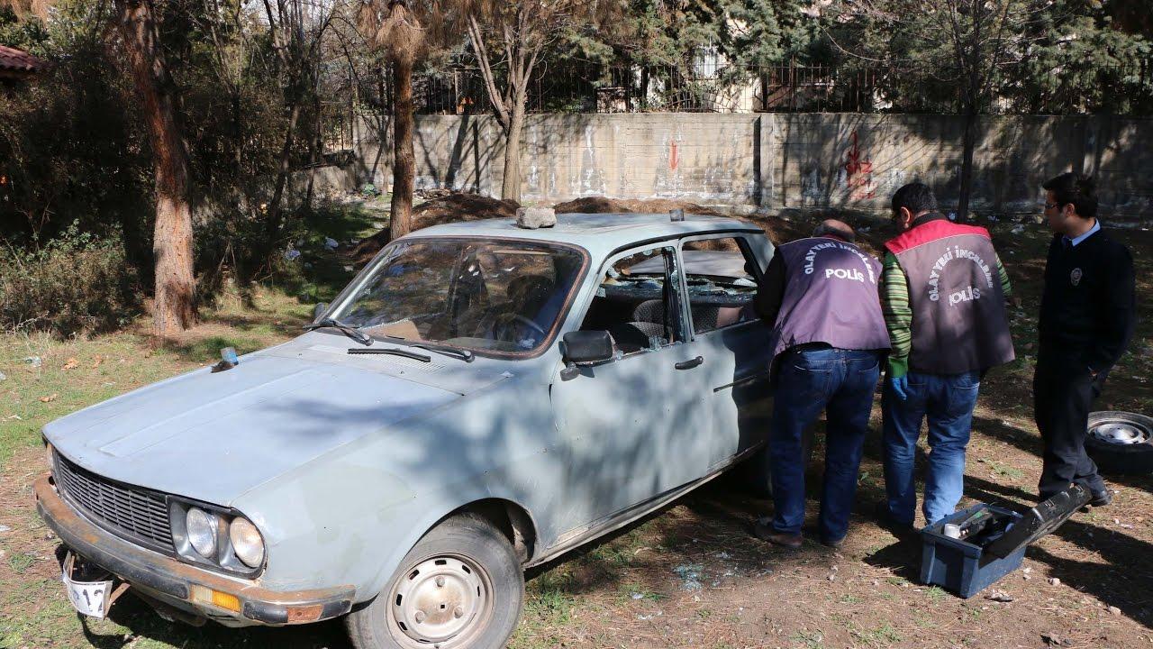 Çaldıkları Otomobili Parçalayarak Araziye Terk Ettiler