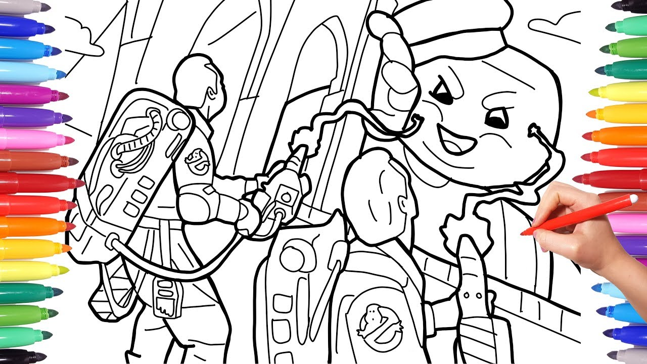 Ghostbusters Coloring Pages For Kids Coloring Ghostbusters And Stay Puft Marshmallow Man