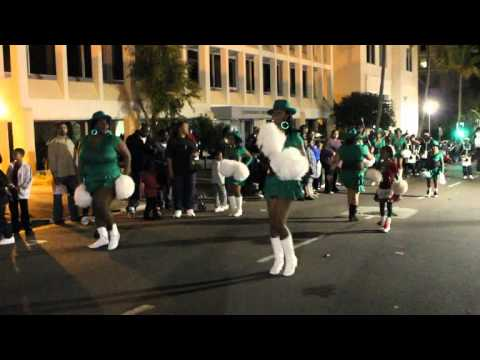 PCC Majorettes At Santa Parade Hamilton Bermuda November 27 2011
