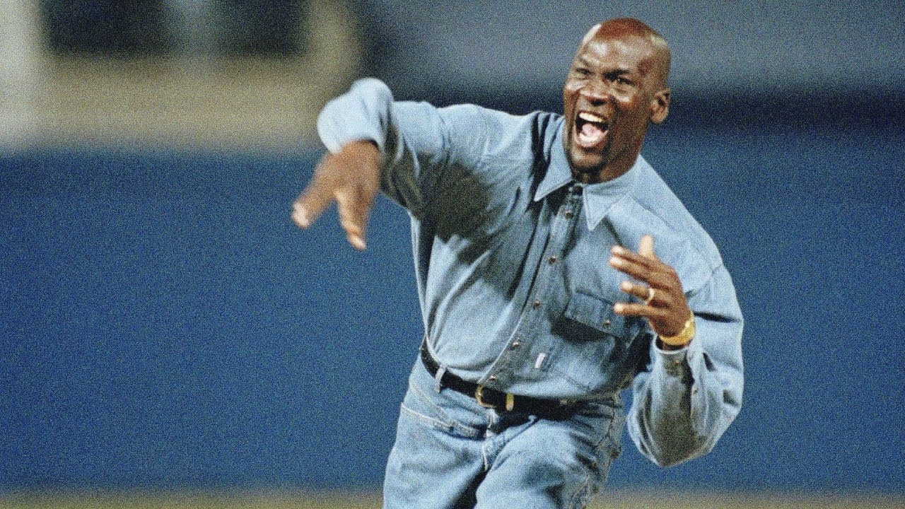 ba0a46727f37 Michael Jordan throws out first pitch of Game 1 of the 1993 ALCS ...