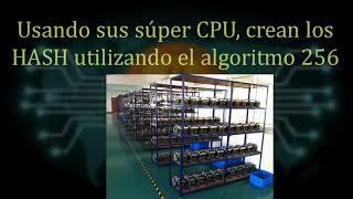 El Bitcoin explicado en inglés (voz) y español (texto) en dos minutos.