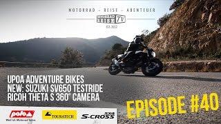 [EN Version] Motorradreise.TV Episode #40 – UPoA Travel Bikes, SUZUKI SV650, 360°Video