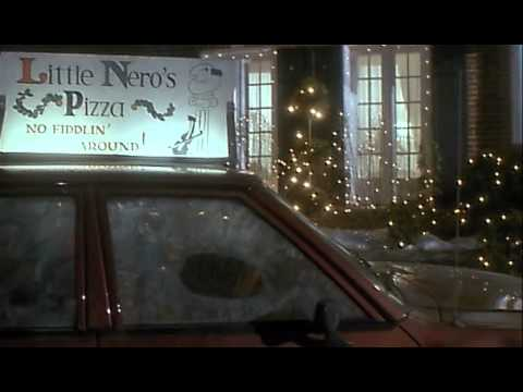 home alone 1990 little neros pizza guy knocks over