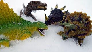 ДИНОЗАВРЫ. Мультфильм Динозавры в Снегу! Мультик про динозавров на русском для детей Игрушки ТВ