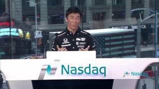 Takuma Sato, ring the Nasdaq opening bell