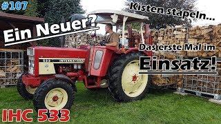 Traktorvlog / Brennholz | Kisten stapeln mit'm IHC 533 | Mr. Moto