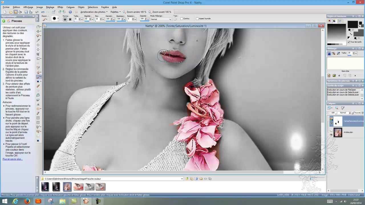 Bien connu Tutoriel pour faire des zones de couleur sur photo noir et blanc  WX09