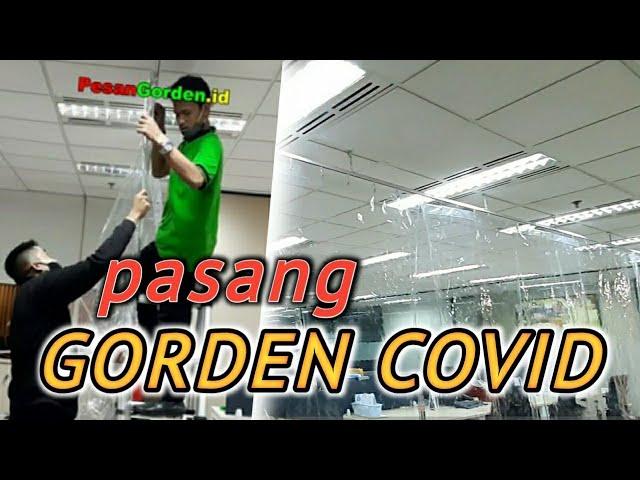 Gorden Corona | Instalasi Gorden Covid Di Gedung GKBI 082310989451/085287651175