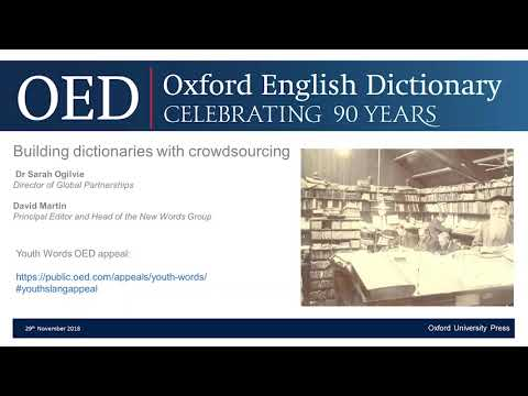 Oxford English Dictionary: Building dictionaries with crowdsourcing
