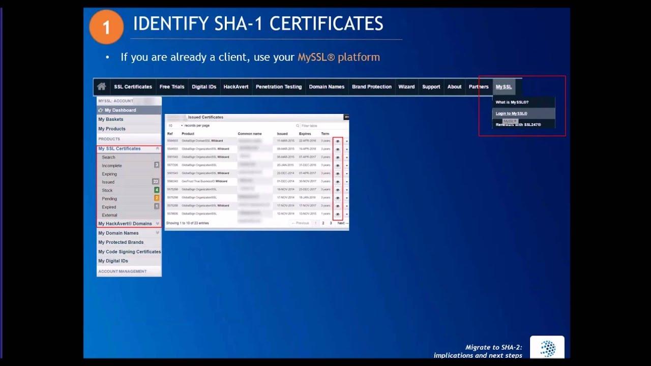 Webinar Migrate To Sha 2 Implications Next Steps Youtube