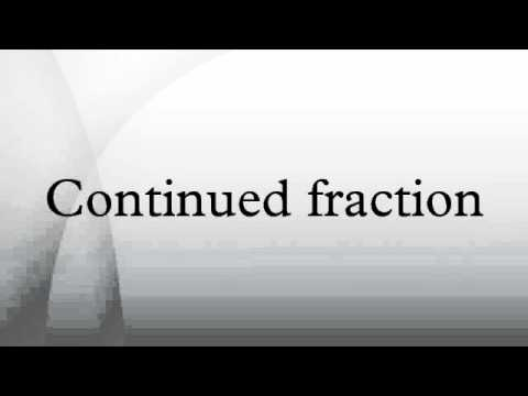 Continued fraction