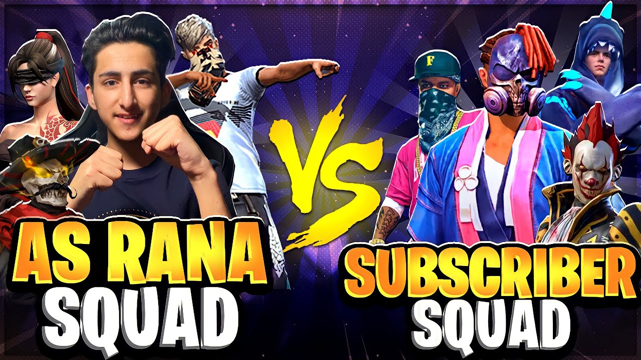 As Rana Squad Vs Subscribers Epic Battle In Garena Free Fire 🔥