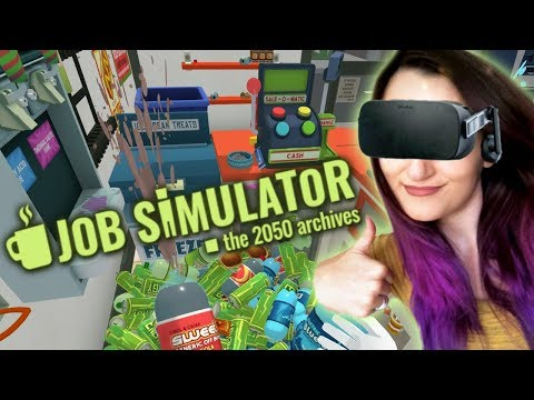 How To Be The GREATEST Store Clerk EVER!!   Job Simulator VR #1