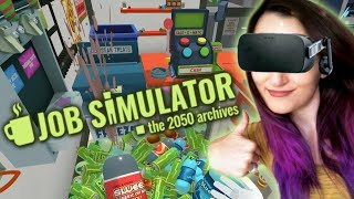 How To Be The GREATEST Store Clerk EVER!! | Job Simulator VR #1