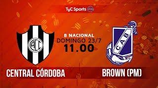 Primera B Nacional: Central Córdoba (SdE) vs. Guillermo Brown (PM) | #BNacionalenTyC