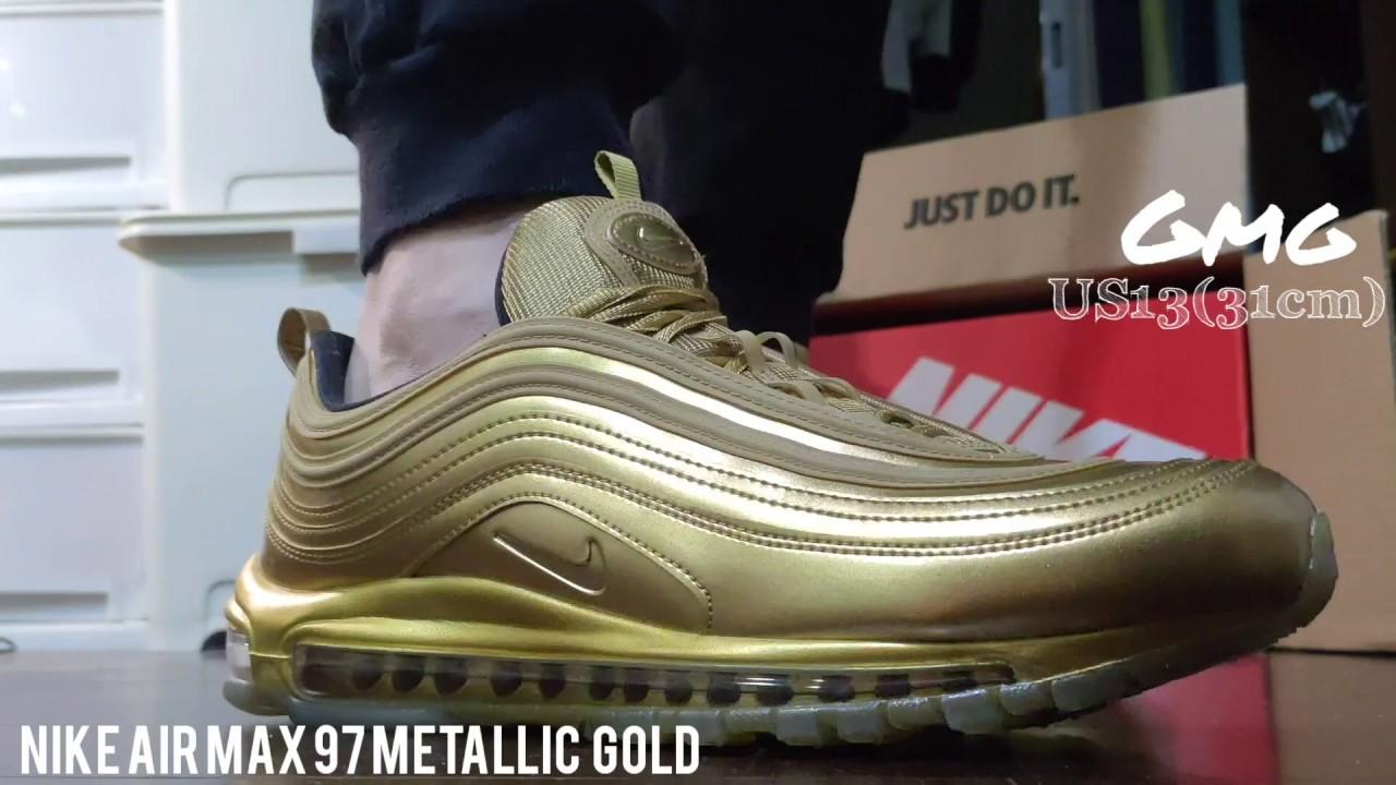 air max 97 metallic gold