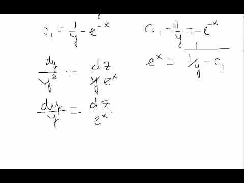Дифференциальное уравнение в частных производных