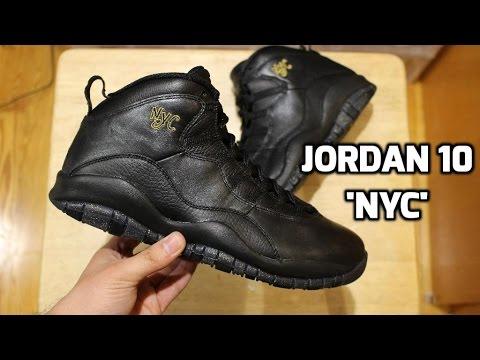 best cheap 54f5d 7a55a ... Jordan 10  NYC  Review   on Feet - YouTube ...