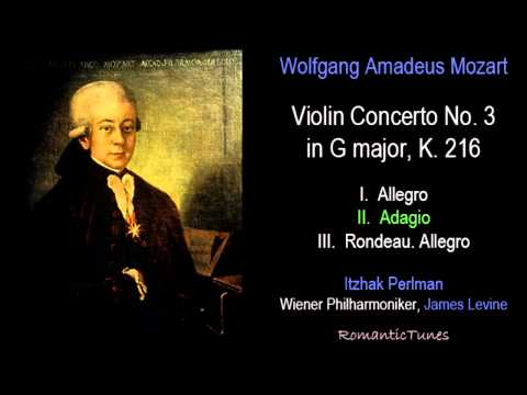 Mozart Violin Concerto No. 3 in G major, K. 216; Perlman, Levine, Vienna Phil.