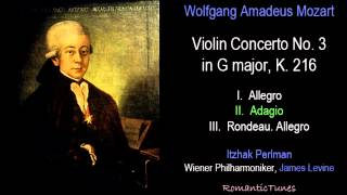 Mozart Violin Concerto No. 3 in G major, K. 216; Perlman, Levine, Vienna Phil.