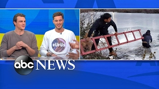 Male models rescue teens from frozen Central Park pond