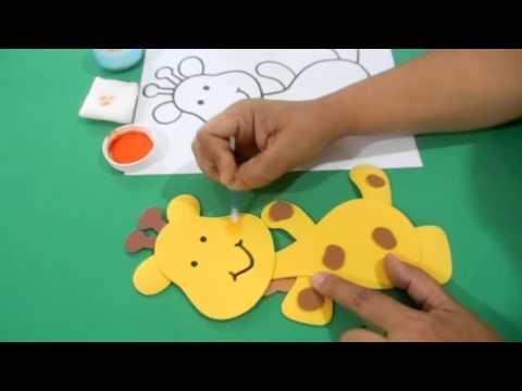 Figura de Foami Jirafa Baby Shower - YouTube