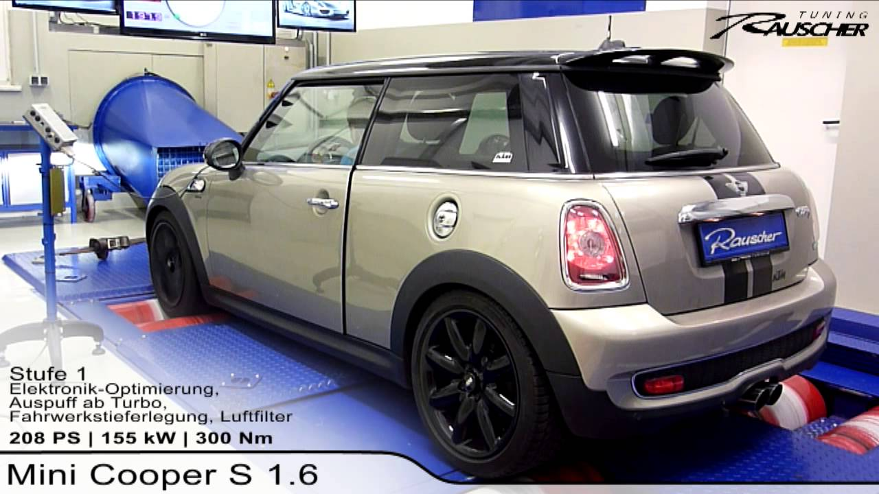 mini cooper s 1 6 by rauscher tuning youtube. Black Bedroom Furniture Sets. Home Design Ideas