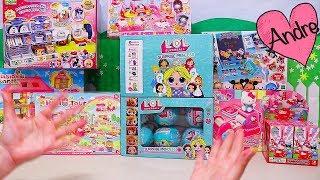 Andre abriendo juguetes de Hello Kitty y princesas y jugando de supermercado!!!