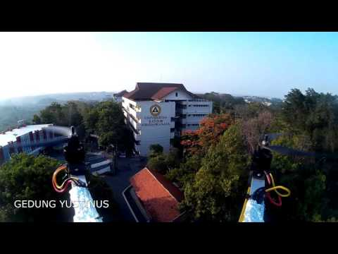 Video Aerial View Universitas Katolik Soegijapranata Semarang - Tim Warak Terbang