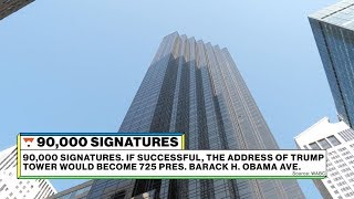 "90,000 signatures to rename 5th ave ""Barack H. Obama Ave."" l Significant Digits"