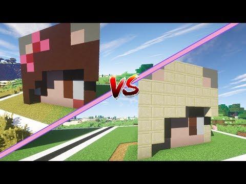 CASA DE MEL vs CASA DE LYNA | Mel vs Lyna | Minecraft