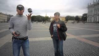 День знаний.Как в России празднуют 1 сентября.Уроки жонглирования булыжниками.