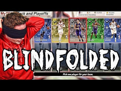 INSANE BLINDFOLDED DRAFT! NBA 2K18 Pack and Playoffs is LIT