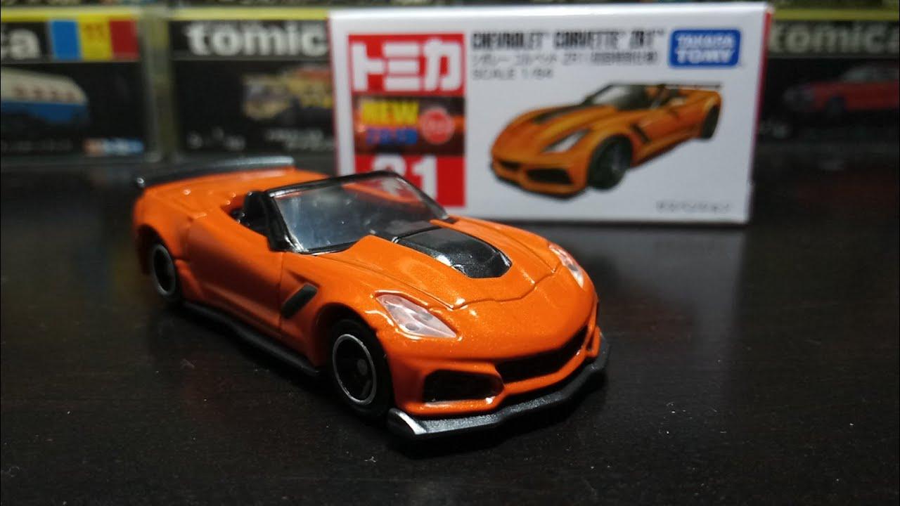 1月新 January New Tomica Unboxing No 31 Chevrolet Corvette Zr1 Open Roof Orange Youtube