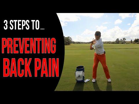 3 Steps To Prevent Back Pain | Golf Swing Mechanics