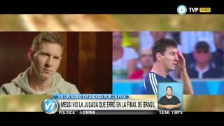 Visión 7 - Messi revivió la jugada que erró en la final de Brasil 2014