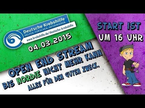 Open End Stream / für den Guten Zweck / Für die Deutsche Krebshilfe