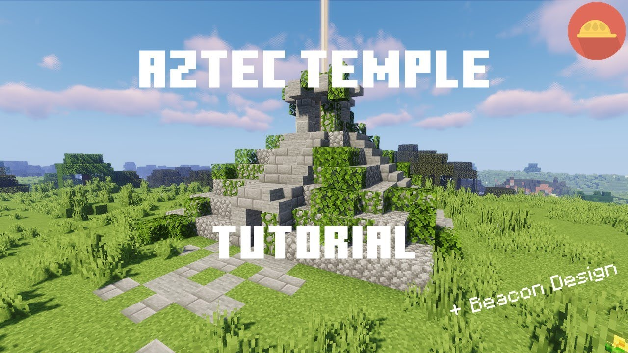 Minecraft How To Build An Aztec Temple Beacon Design Craftingbench Minecraft Tutorial 1 16 17 Youtube