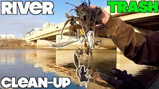 DISGUSTING!!! CLEANING UP MY FAVORITE RIVER -- MAGNET FISHING